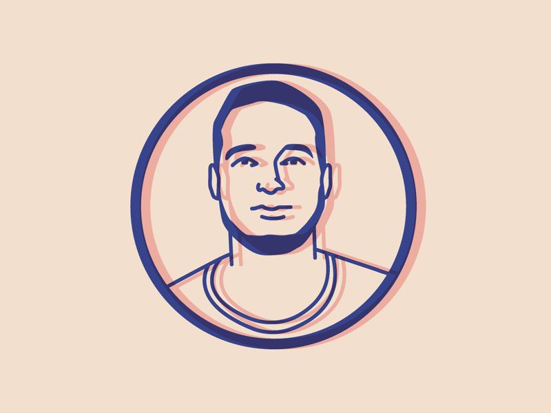 Personal Avatar minimal icon simple graphic design vector red blue avatar illustration design