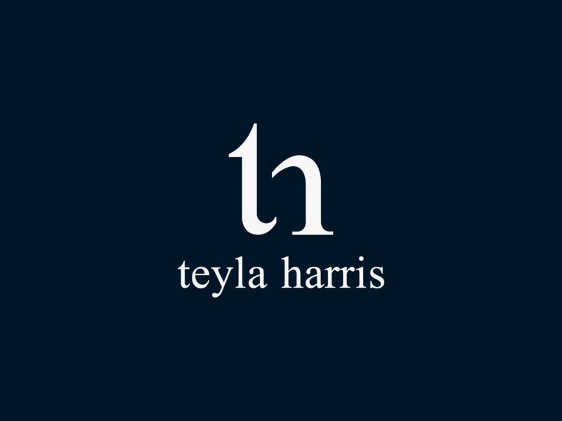 Teyla Harris Logo design brand design luxury brand navy blue lettermark creative negative space pattern clean sign minimal monogram letter mark monogram fashion branding clothes fashion brand
