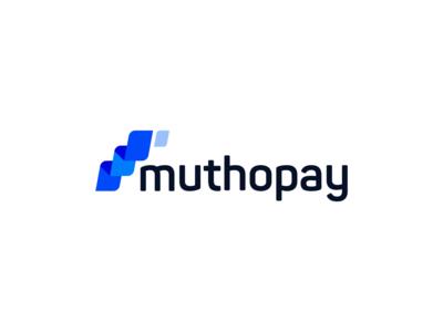Muthopay Logo Concept identity brand typography transaction platform payment pay money transfer money minimalist minimal logo idea iconic financial finances finance currency clean branding