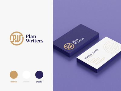 Plan Writer Branding zoomdesign typography exploration mark business card consultancy consulting lettermark identity minimal brand design logo clean branding service plane business online