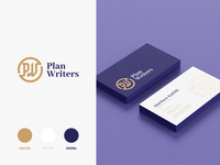 Plan Writer Branding zoomdesign typography exploration mark business card consultancy consulting lettermark identity minimal brand design logo clean branding service plane business online