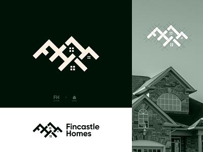 Fincastle Home Logo house wordmark clean minimal identity typography real estate brand lettermark concept logo mark iconic design branding home housing logo letter logo