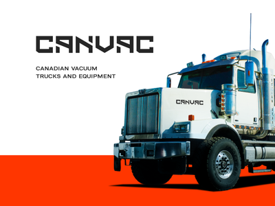 CANVAC logo redesign branding logotype logo lettermark letter canvac compact construction machines development industries loaders excavator equipment service equipment sewer cleaning industry