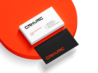 CANVAC Business Card sewer cleaning equipment equipment service excavator loaders industries machines construction compact canvac vacuum visiting card brand elements stationary design business card designer business card identity clean logo branding