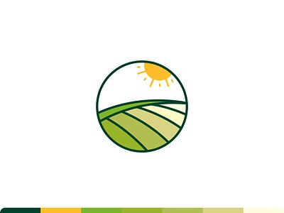 Harvest Logo Exploration logo exploration vector for sale logo sale logo design emblem monogram mark green colorful illustration design minimal logo clean shine sun growth