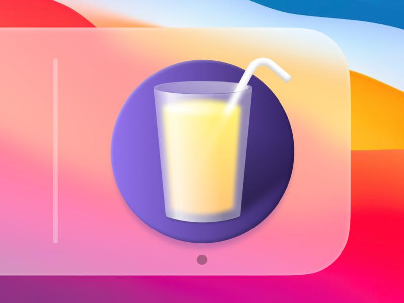 Drinks macOS App Icon mac icon macos icon osx icon ui icon app icon illustration