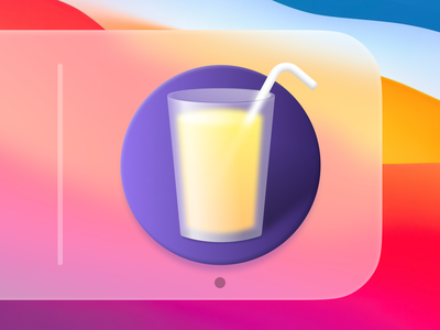 Drinks macOS App Icon mac icon macos icon osx icon ui icon app icon illustration