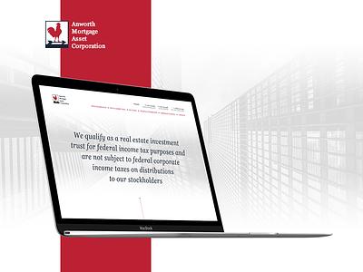 Anworth Mortgage Asset Corporation webdesign dailyui