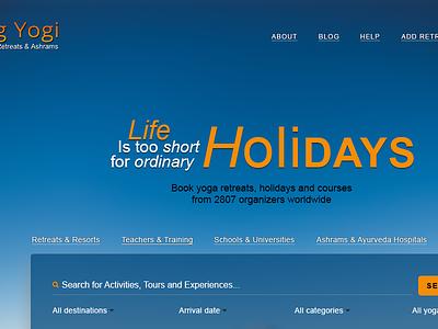 Yog Yogi web site design uiux webdesign