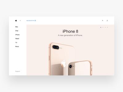 Apple home screen dailyui webdesign