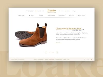 Loake Shoemaker dailyui webdesign