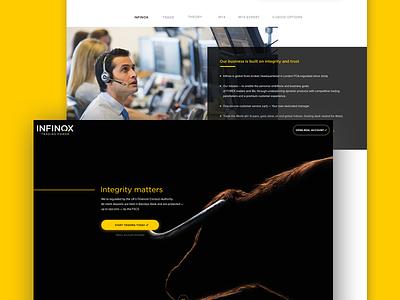 Infinox Landing  Page dailyui webdesign