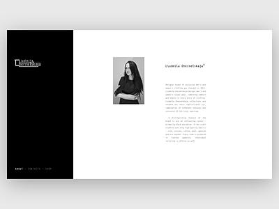 Luidmila Chernetskaja web site visual ux dailyui webdesign