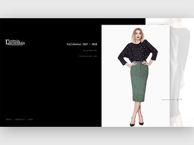 Luidmila Chernetskaja Home Page visual ux dailyui webdesign