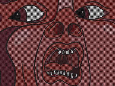 21st Century Schizoid Man! pattern overlay comic comic style king crimson rock music