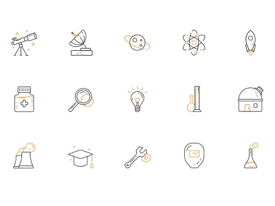 Science Icons design medical science chemical vector illustration icons icon