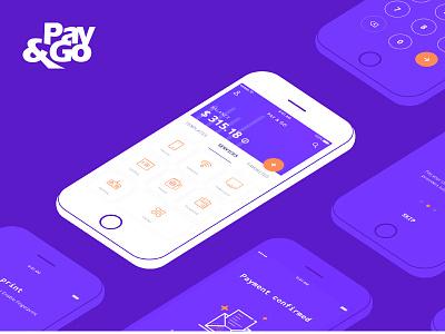 Pay & Go Wallet app application app wallet bank money mobile ux ui