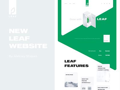 LEAF Smart Growbox website vegetables growing green landing growbox leaf cannabis web