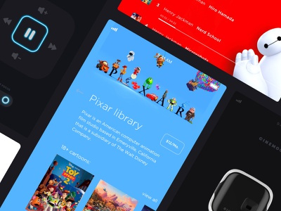 Cinemood device and mobile interface cartoon cartoons application tv cinemood app mobile iot ios