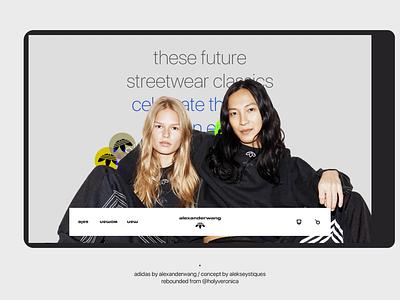 Adidas by alexander wang / Web site concept brand shop ecommerce wang alexanderwang adidas fashion web