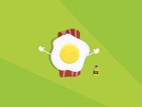 Eggy having a sunbath