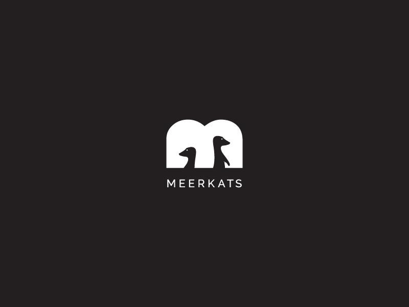 Meerkats logo design dribbble inspiration creative simple negative negativelogo brandidentity brand logodesign logo meerkat