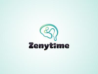 Zenytime logo fun art brain logo graphic brandidentity shot brand idea dribbble creative illustrator gradient vector typography design identity inspiration illustration logo design logo
