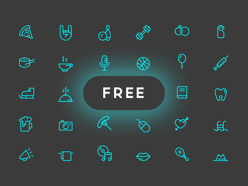 Joy Icon Set (Free Vector & PSD) stroke simple pack minimal vector psd icons icon freebie free line flat