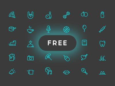 Joy Icon Set (Free Vector & PSD)