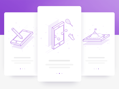 Fitness App Onboarding ui screen outline onboarding mobile iphone ios fit clean apps application app