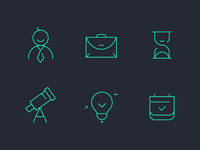 Outline icons for web project