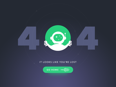 Page 404 illustration icons lost error web ux ui interface space startup flat 404