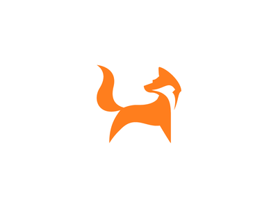 Fox mark vector illustration minimal icon mark logo fox animal symbol