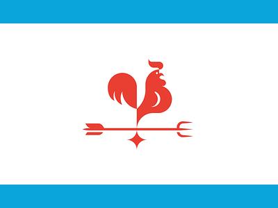 Rooster mark bird restaurant vector cock symbol minimal mark logo illustration icon animal