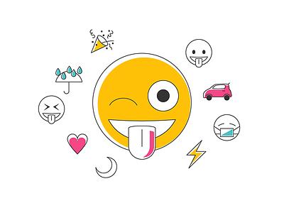 Emoji Adwords google whatsapp unicode line art minimalist collection wink adwords smiley emoji