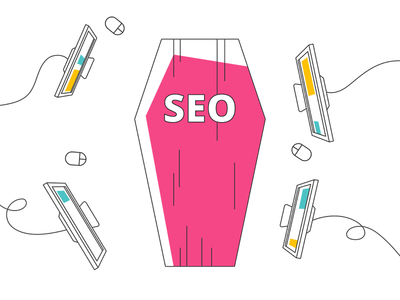 Seo: Dead Or Alive digital marketing coffin top minimal line art death seo