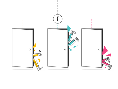 ifs and buts ads display advertising google choice bracket if statement doors minimal illustration legs adwords