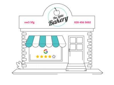 Keeping it local building architecture line art bakery trade business shop local review my business google