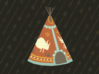 T-P illustration simple vector pattern tent teepee
