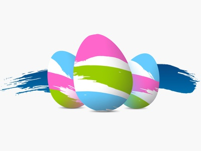 O2 Easter Eggs holiday chicken paint brush colourful eggs easter