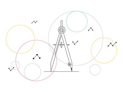 Google Attribution Tool drawing technical compass minimalist circles tool attribution google