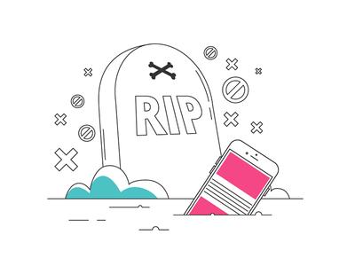 The Death Of Adblockers minimal line seo ppc mobile advertising death rip ads adblockers