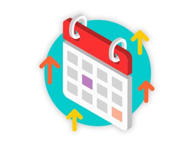 Calendar Icon upgrade time icon calendar