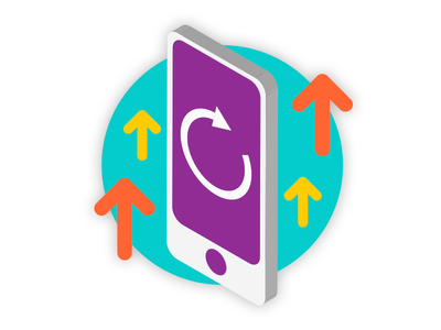 Mobile Upgrade Icon refresh app arrow up illustration icon phone mobile