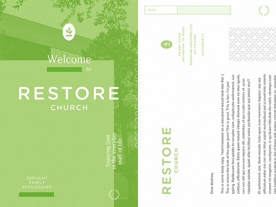 Restore Church restore mark logomark pattern green branding logo church