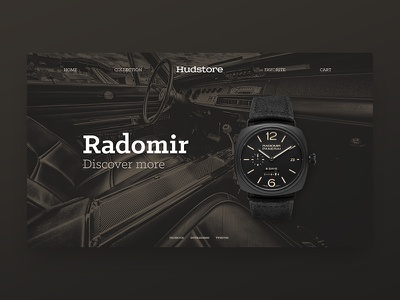 DailyUI Watches clock panerai site web dark ux ui interface watch