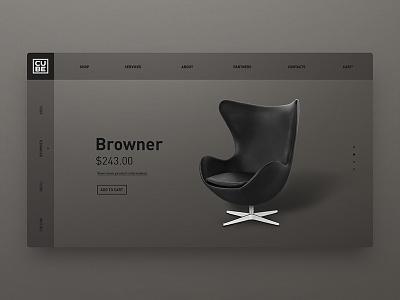 DailyUI Interior Goods site web ui grey dark furniture chair stuff interior