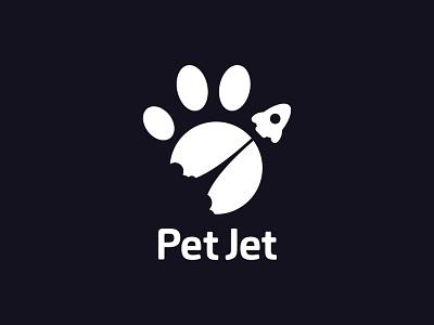 Logo for Delivery fast footprint rocket fly delivery animal brand logo jet pet