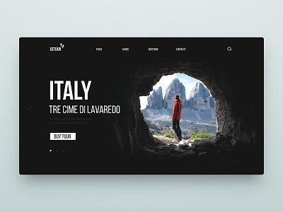 DailyUi Travel interface ui climbing climb camping guide web mountain travel