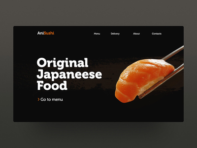 Daily Ui for sushi